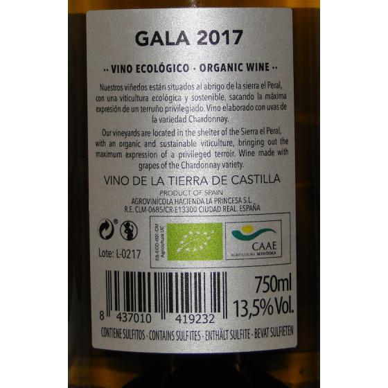 Vino Ecológico Blanco Gala 2017