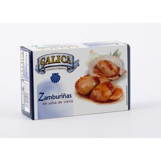 Zamburiñas en Salsa de Vieira 120grs. Galica