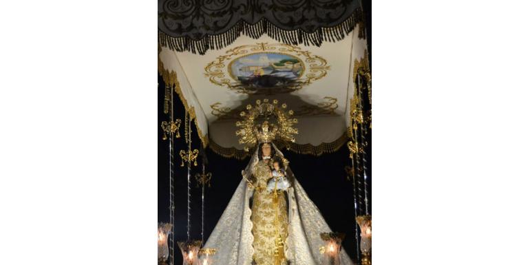 La patrona volverá a procesionar el próximo domingo