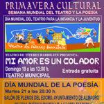 Nuestra ciudad celebra fechas dedicadas al Teatro