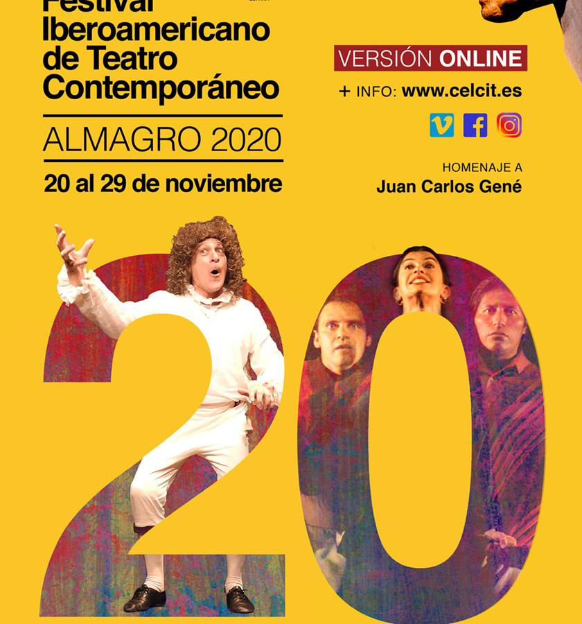 El Festival Iberoamericano de Teatro Contemporáneo de Almagro se adapta a los tiempos de pandemia y celebra vigésimo aniversario con edición online
